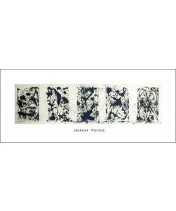 Jackson Pollock, Black and white Polyptych (Büttenpapier)