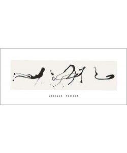 Jackson Pollock, Zeichnung in Tropftechnik, 1960 (Büttenpapier)