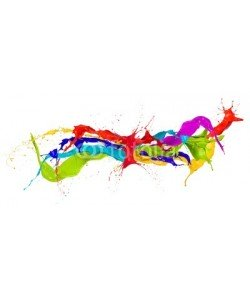 Jag_cz, Colored paint splashes isolated on white background