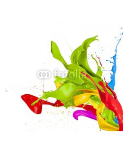 Jag_cz, Colored splashes in abstract shape, isolated on white background