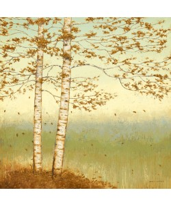 James Wiens, Golden Birch I with Blue Sky