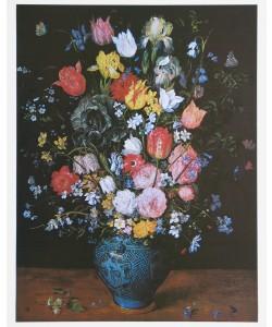 Jan Brueghel der Ältere, Blumenstrauß in blauer Vase