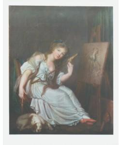 Jean Baptiste Greuze, Mädchen mit Spindel