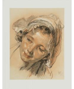 Jean Baptiste Greuze, Studienkopf eines Mädchens