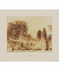 Jean-Honoré Fragonard, Brunnen im Garten der Villa d'Este