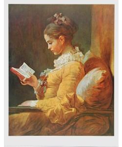 Jean-Honoré Fragonard, Junges Mädchen beim Lesen, ca. 1776