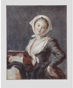 Jean-Honoré Fragonard, Mädchen mit Murmeltier
