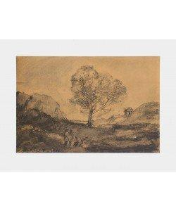 Jean-Baptiste Camille Corot, Landschaft mit Baum