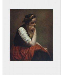 Jean-Baptiste Camille Corot, Sinnendes Mädchen