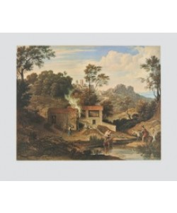 Joseph Anton Koch, Romantische Landschaft bei Olevano