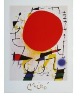 Joan Miró, Le Soleil Rouge - Die rote Sonne