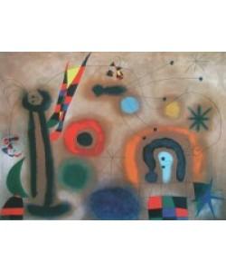 Joan Miró, Libelle mit roten Flügeln, eine Schlange jagend