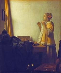 Johannes Vermeer, Junge Dame mit Perlenhalsband
