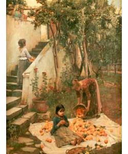 John William Waterhouse  Orangenpflücker