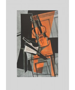 Juan Gris, Violine (auf Bütten)