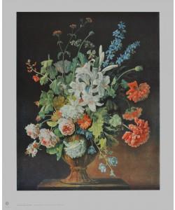 Justus Huysum, Stilleben mit Lilien, Mohn und Rosen