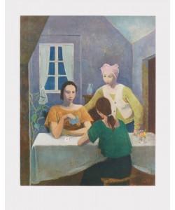 Karl Hofer, Kartenspielende Mädchen
