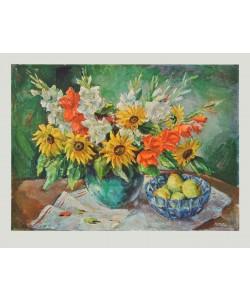 Kaufmann, Blumen in Vase