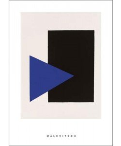 Kazimir Malevich, Black rectangle, bleu triangle, 1915 (Büttenpapier)