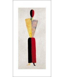 Kazimir Malevich, The girl, figure on white