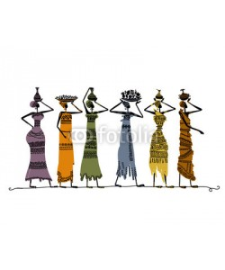 Kudryashka, Sketch of ethnic women with jugs for your design