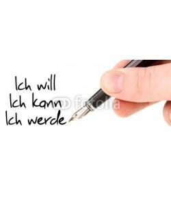 L.Klauser, Ich will, ich kann, ich werde! / Handschrift mit Füller