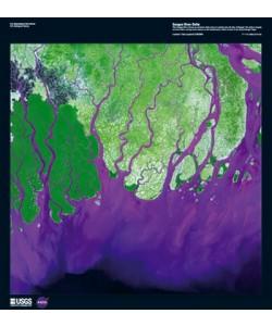 Landsat-7, Ganges River Delta