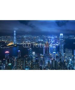 leeyiutung, View of Victoria harbor from the peak at Hong Kong