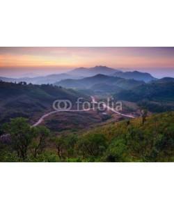 lkunl, Landscape of sunrise over mountains in Kanchanaburi,Thailand