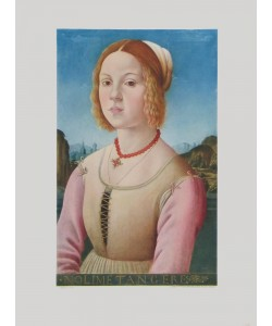 Lorenzo Credi, Bildnis eines jungen Mädchens - Noli me Tangere