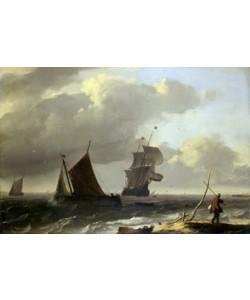 Ludolf Backhuyzen, Bewegte See mit Schiffen
