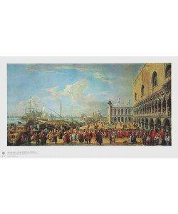 Luca Carlevaris, Vor dem Dogenpalast in Venedig