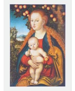 Lucas Cranach der Ältere, Maria mit dem Kinde unter dem Apfelbaum,um 1530
