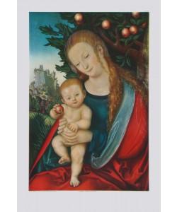 Lucas Cranach der Ältere, Maria unter einem Apfelbaum