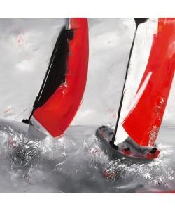 Lydie Allaire, Deux voiles rouges