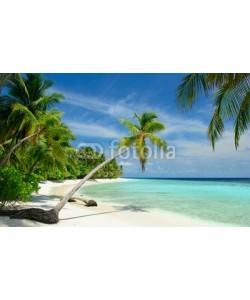 M.Rosenwirth, einsamer Strand mit Palmen