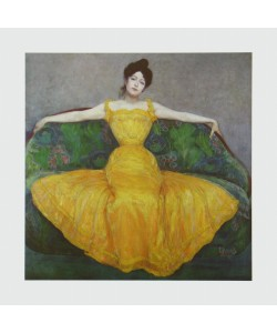 Maximilian Kurzweil, Dame in Gelb, 1899