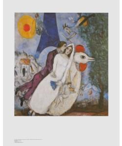 Marc Chagall, Brautpaar mit Eiffelturm