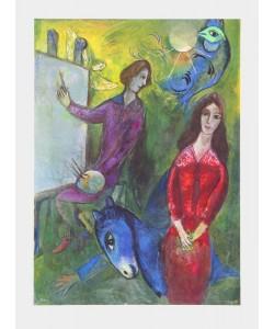 Marc Chagall, Der Künstler und sein Modell (Büttenpapier)