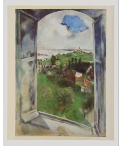 Marc Chagall, Fenster mit Sicht auf die Insel Bréhat, 1924