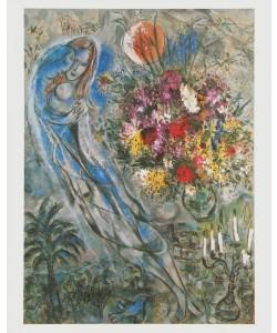 Marc Chagall, Les Amoureux en Gris - Die Liebenden auf Grau