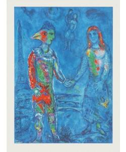 Marc Chagall, Paar in Blau (Bütten)