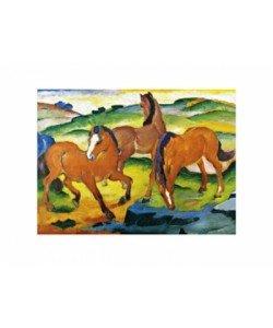 Franz Marc, Die großen roten Pferde