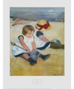 Mary Cassatt, Kinder spielen am Strand