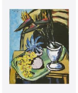 Max Beckmann, Stilleben mit Strelizien und gelben Orchideen