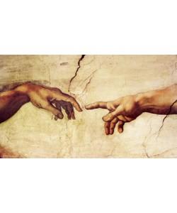 Leinwandbild, Michelangelo, Die Erschaffung Adams