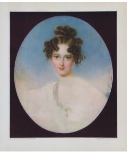 Moritz Michael Daffinger, Portrait: Dame mit Perlenkette
