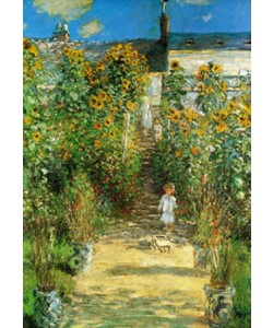 Claude Monet, Artist \'s Garden at Vetheuil
