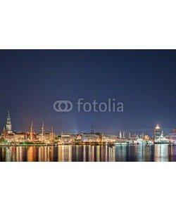 motorradcbr, Skyline von Hamburg bei Nacht 2
