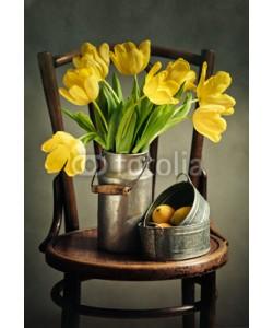Nailia Schwarz, Stillleben mit gelben Tulpen